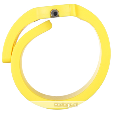 Alessi watch yellow